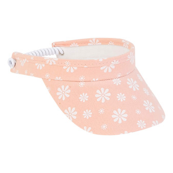 Daisy | Cotton Coil Visor - Pink