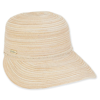 Aria Backless Poly Braid Hat - Natural