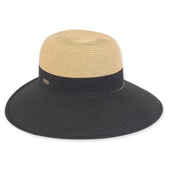 Phoebe Backless Paper Braid Hat - Tan
