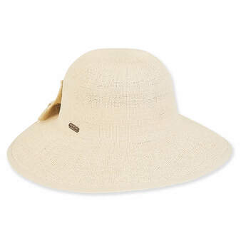 Sophia Backless Paper Braid Hat - Natural
