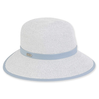 Kimi Backless Paper Braid Hat - Blue