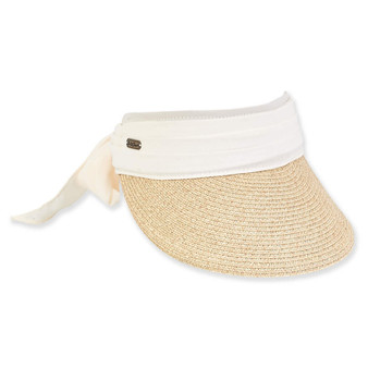 Olivia Paper Braid Visor - Ivory