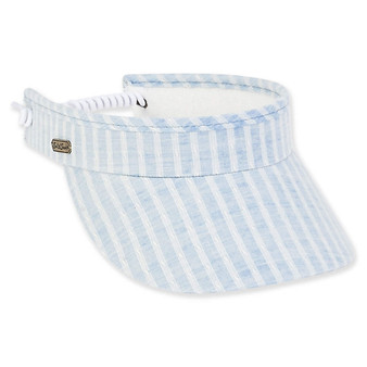 Blair Cotton Visor - Blue
