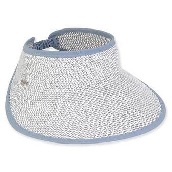 Eileen Paper Braid Visor - Slate Blue