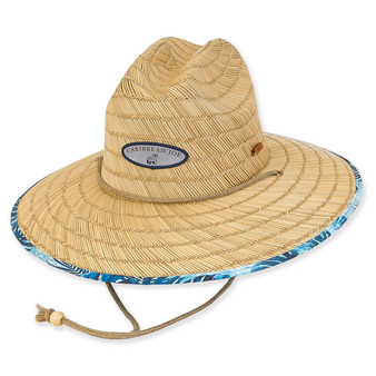 Caribbean Joe Natural Straw SAFARI - Judah - Natural-Blue