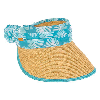 Caribbean Joe PAPER BRAID Visor - Isla - Tan