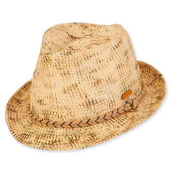 Caribbean Joe Natural Straw Fedora -Aiden