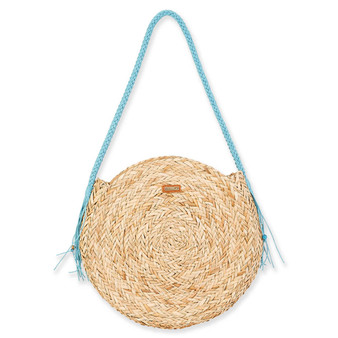 MACHEALLE ROUND TOTE - Turquoise