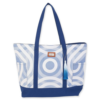 VERITI SHOULDER TOTE - BLUE