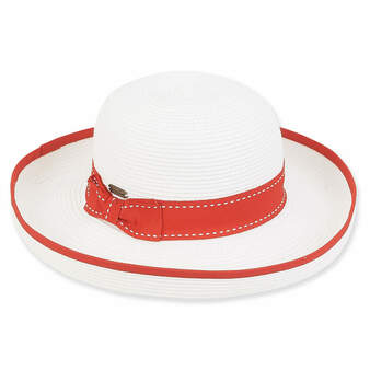 Savannah Upbrim Braid Hat - Red