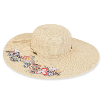 Burgos Braid floppy hat - Natural
