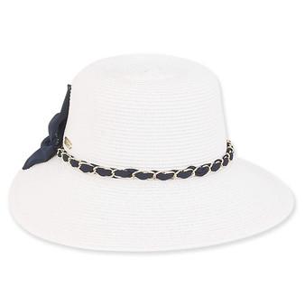 Essen Braid Floppy hat - White