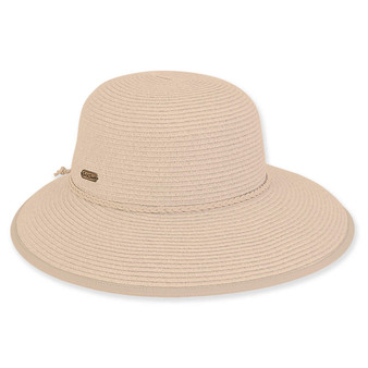 Zara Braid wide brim - Beige