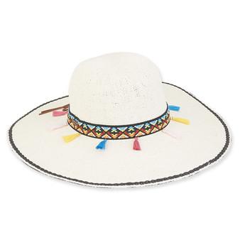Keira Crochet Floppy Hat - Ivory