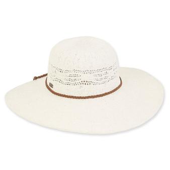 Zuri Crochet Floppy Hat - Ivory