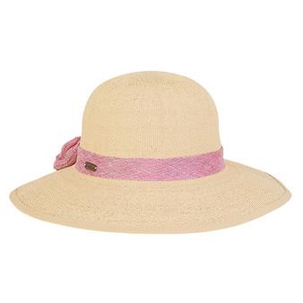 Maeve Crochet Floppy Hat - Pink