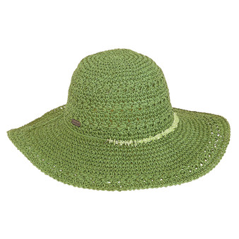 Kaia Crochet Floppy Hat - Green