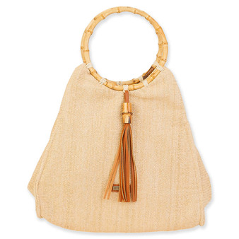 SUN N SAND PAPERSTRAW SATCHEL OCEANIA - Natural