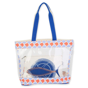 GUY HARVEY TUNA SCALES, CLEAR TOTE