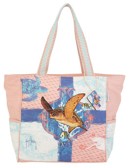 GUY HARVEY OCEAN FRIENDS, SHOULDER TOTE
