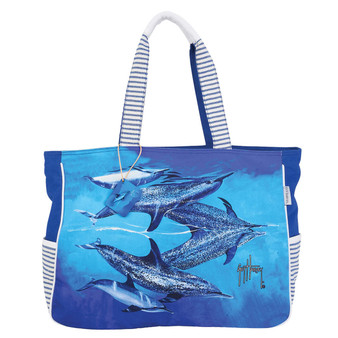 GUY HARVEY SEA REFLECTIONS, OVERSIZED TOTE