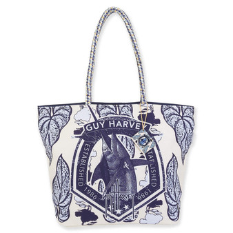 GUY HARVEY MARLIN GARDEN, SHOULDER TOTE
