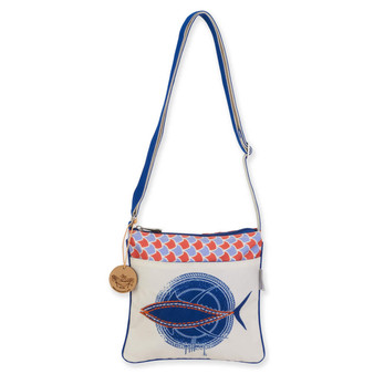 GUY HARVEY TUNA SCALES, CROSSBODY