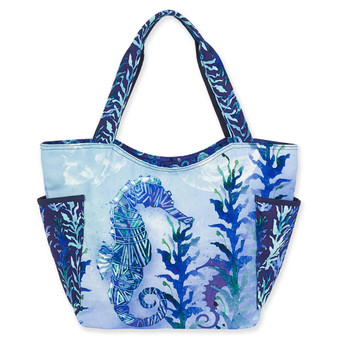 AUNDREY JEANNE SEAHORSE, SEAGLASS SCOOP TOTE