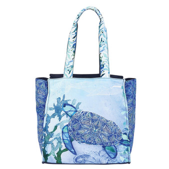 AUNDREY JEANNE TURTLE, SEAGLASS OVERSIZED TOTE