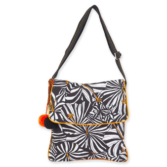 CARIBBEAN JOE ZEBRISCUS FLAP OVER CROSSBODY