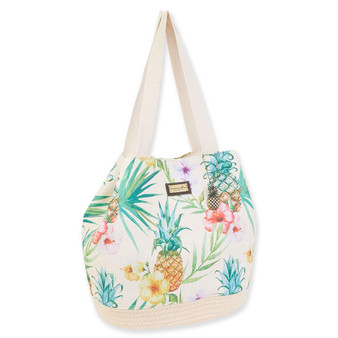 CARIBBEAN JOE BEACH LIFE GAP TOTE - PINEAPPLE