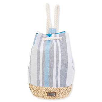 CARIBBEAN JOE SUN STRIPES SLING - BLUE