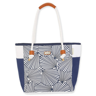 CARIBBEAN JOE NAVY, MOANA SHOULDER TOTE