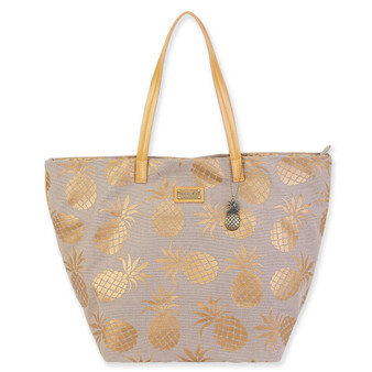 CARIBBEAN JOE IKAIA SHOULDER TOTE - GREY