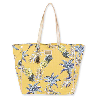 CARIBBEAN JOE KAI SHOULDER TOTE - YELLOW