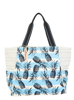 CARIBBEAN JOE SHOULDER TOTE NAUTICA - BLUE