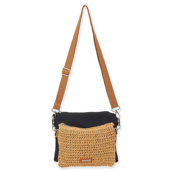 SUN N SAND NATURAL 2PC CROSS BODY SHAKA - BLACK
