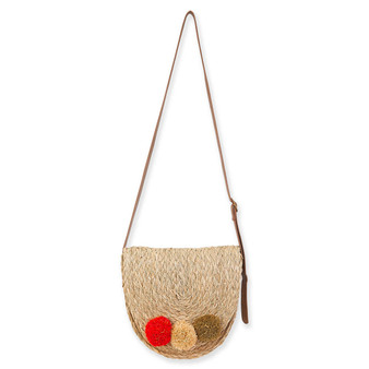 SUN N SAND NATURAL FLAPOVER CROSSBODY ROSEMALLOWS