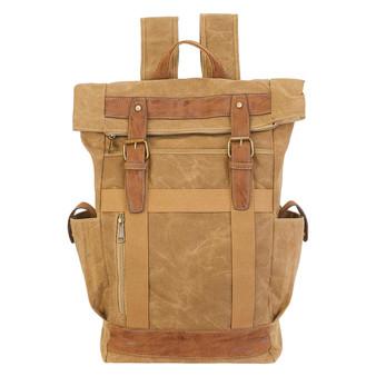Olivia Rolled Backpack - Khaki