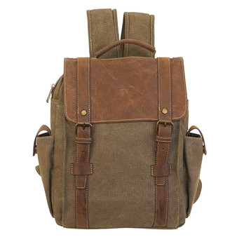Vanessa Flap Over Backpack - Khaki