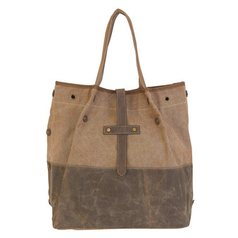 Grace Shoulder Tote  - Khaki/Brown