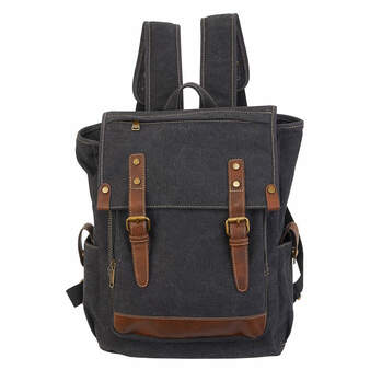 Iris Flap Over Backpack - Charcoal