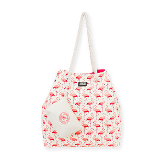 "BAECOS FLAMINGO GAP TOTE | Magnetic Snap | 21.5""x 5.5""x 17.5"" 
