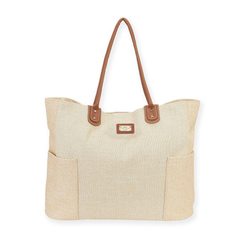 "APULIA SHOULDER TOTE | Zip Top | 23.5""x 6""x 15.5"" 