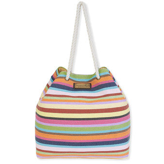 "STRIPES GAP TOTE | Magnetic Snap | 21""x 5.5""x 17.5"" 