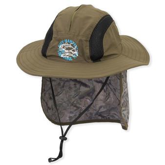 "GH HAT W/CHIN CORD & BA BACK ADJUSTER | Breathable Nylon Hat With Sizer & Drawstring Chin Cord | Brim: 3.5"""