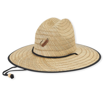 Rush Straw Hat With Logo Hook & Underbrim Lining | Brim: 3.5""