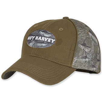 Cotton Cap With Signature Iconic Patch and Camo Side | BRIM 2.75""