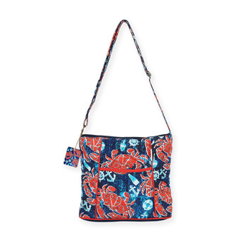 "NAUTICAL CRABS LARGE CROSSBODY | 15""x 5""x 11.5"""