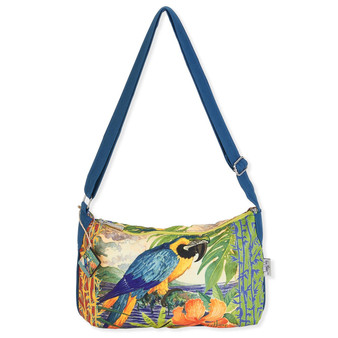 "G.H. PARROT PALACE MEDIUM CROSSBODY| 10""x 4.5""x 7.5"""